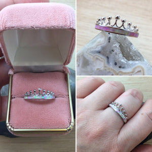 Pink Opal Crown Ring - Ring - AlphaVariable
