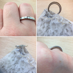 Thin Band Opal Ring - Ring - AlphaVariable