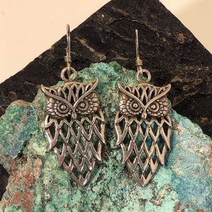 Owl Earrings - Earrings - AlphaVariable