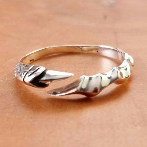 Sterling Silver Dragon Claw Ring - Sterling Silver Rings - AlphaVariable
