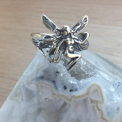 Sterling Silver Fairy Ring - Sterling Silver Rings - AlphaVariable