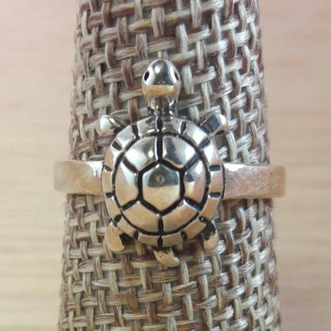 Sterling Silver Turtle Ring - Sterling Silver Rings - AlphaVariable