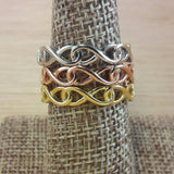 Gold Infinity Ring - Sterling Silver Rings - AlphaVariable