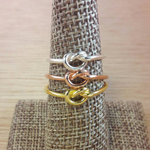 Rose Gold Knot Ring - Ring - AlphaVariable