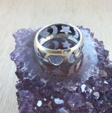 Sterling Silver Moon and Star Ring - Ring - AlphaVariable