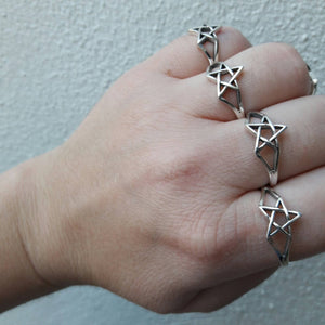 Sterling Silver Star Ring - Sterling Silver Rings - AlphaVariable