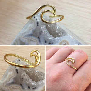 Gold Wave Ring - Ring - AlphaVariable