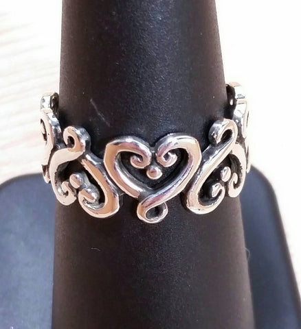 Sterling Silver Heart Ring - Sterling Silver Rings - AlphaVariable