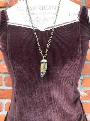 Tiger's Eye Horn Necklace - Necklace - AlphaVariable