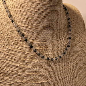 Tourmalated Quartz Necklace - Necklace - AlphaVariable