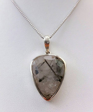 Tourmaline and Quartz Crystal Necklace - Necklace - AlphaVariable