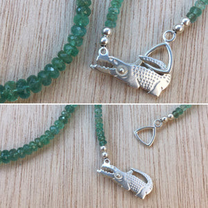 Sterling Silver Emerald Necklace - Necklace - AlphaVariable
