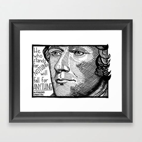 Hamilton Framed Art Print - Framed Art Prints - AlphaVariable