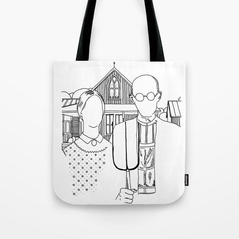 American Gothic Revival - Tote Bag - AlphaVariable