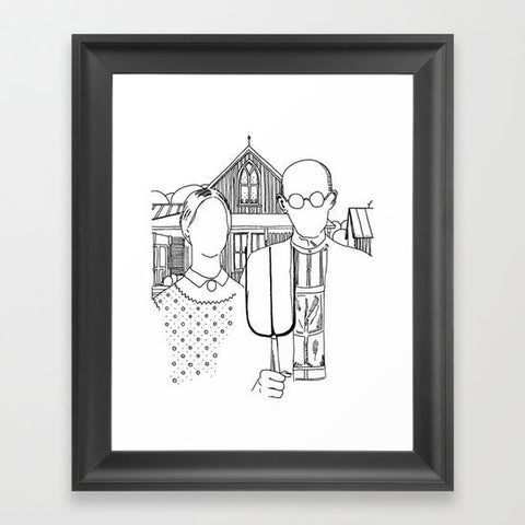 American Gothic Revival Framed Art Print - Framed Art Prints - AlphaVariable