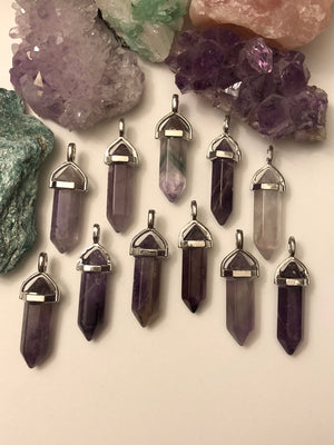 Amethyst Necklace - Necklace - AlphaVariable
