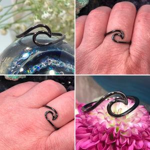 Black Wave Ring - Ring - AlphaVariable