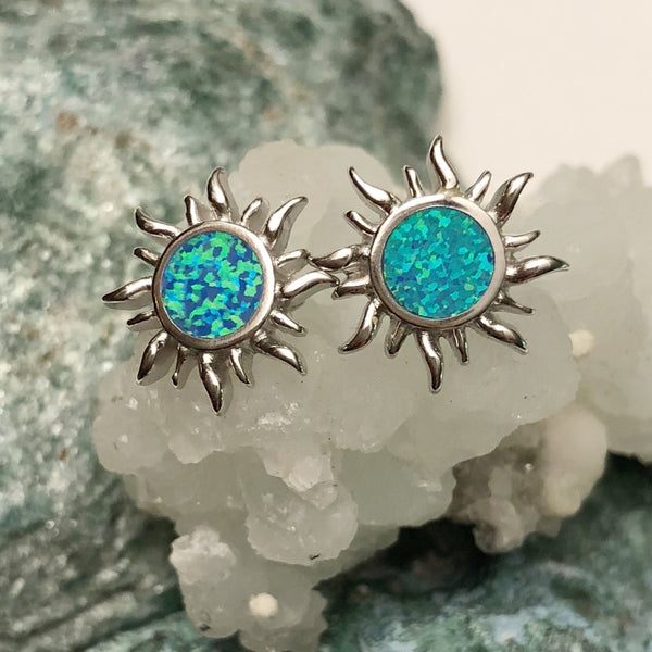 Opal Sun Earrings