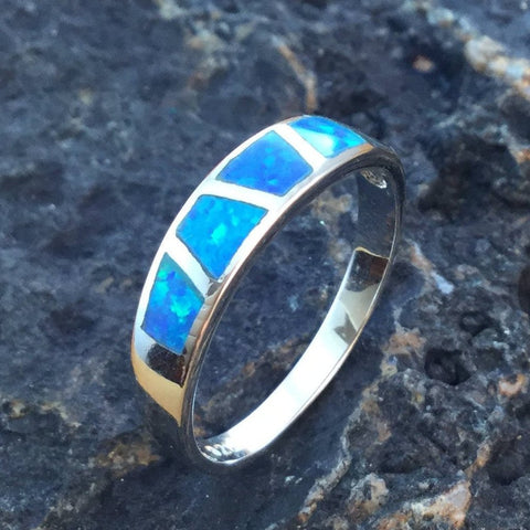 Blue Opal Ring - Rings - AlphaVariable