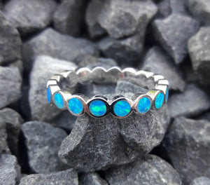 Blue Opal Band - Ring - AlphaVariable