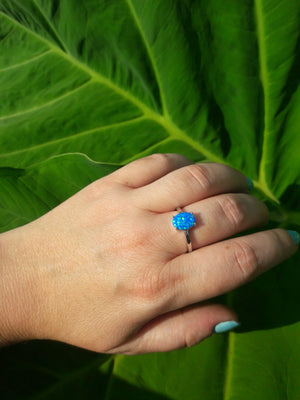 Blue Opal Oval Ring - Ring - AlphaVariable