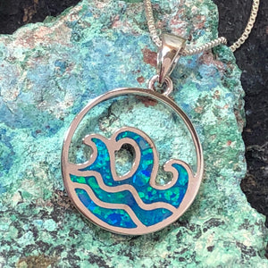 Opal Wave Necklace - Necklace - AlphaVariable