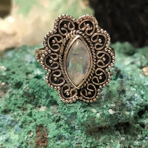 Marquise Moonstone Ring - Ring - AlphaVariable