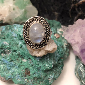 Boho Moonstone Rings - Ring - AlphaVariable
