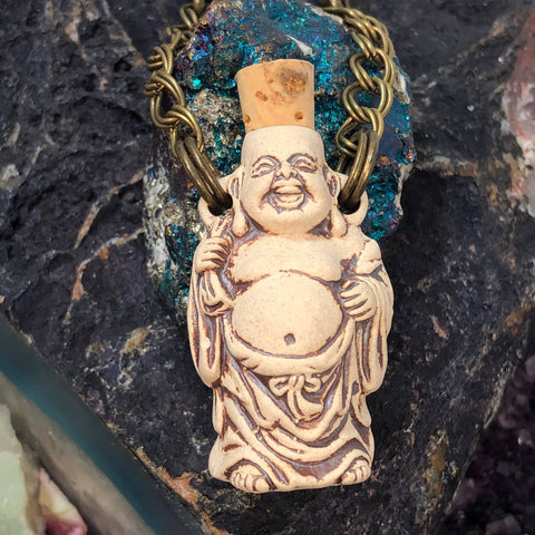 Buddha Bottle Necklace