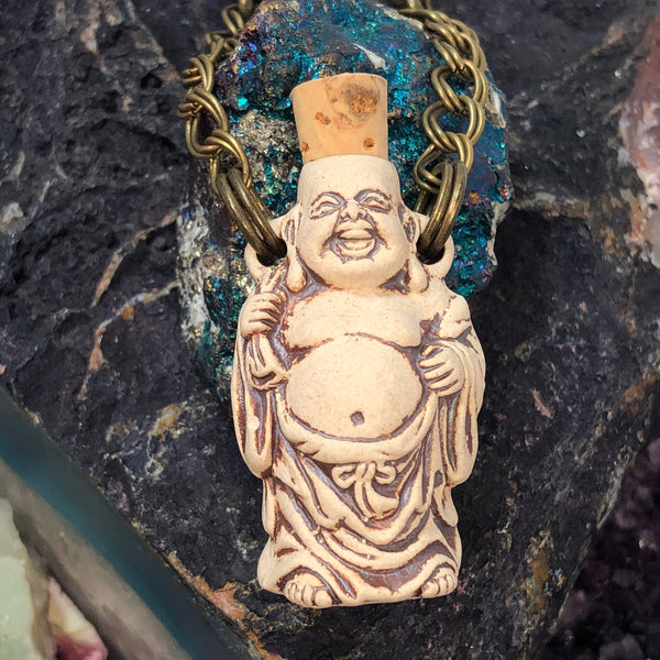 Buddha Bottle Necklace -  - AlphaVariable
