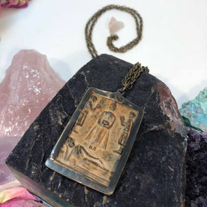 Buddhist Prayer Necklace - Necklace - AlphaVariable