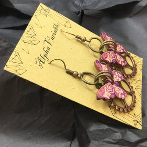 Steampunk Butterfly Gear Earrings - Earrings - AlphaVariable