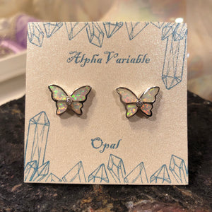 Opal Butterfly Earrings - Earrings - AlphaVariable