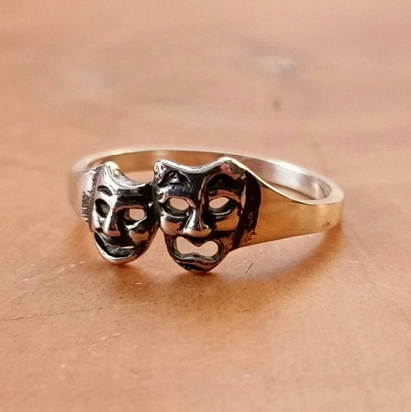 Comedy And Tragedy Mask Ring - Ring - AlphaVariable