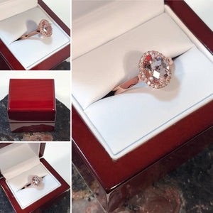 Morganite Engagement Ring - Ring - AlphaVariable