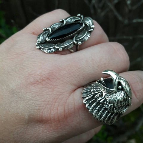 Eagle Ring - Sterling Silver Rings - AlphaVariable
