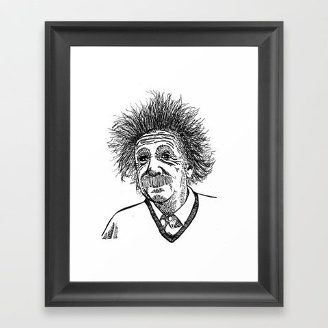 Einstein Framed Art Print - Framed Art Prints - AlphaVariable