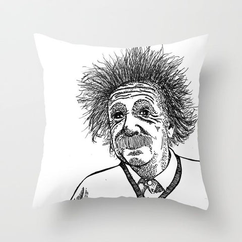 Einstein Pillow Cover - Pillow Cover - AlphaVariable
