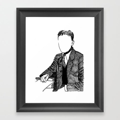 F. Scott Fitzgerlad Framed Art Print - Framed Art Prints - AlphaVariable