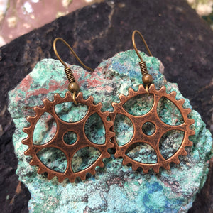 Gear Earrings - Earrings - AlphaVariable