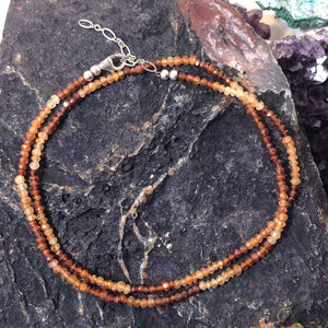 Hessonite Necklace - Necklace - AlphaVariable