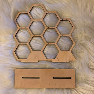 Honeycomb Earring Display -  - AlphaVariable