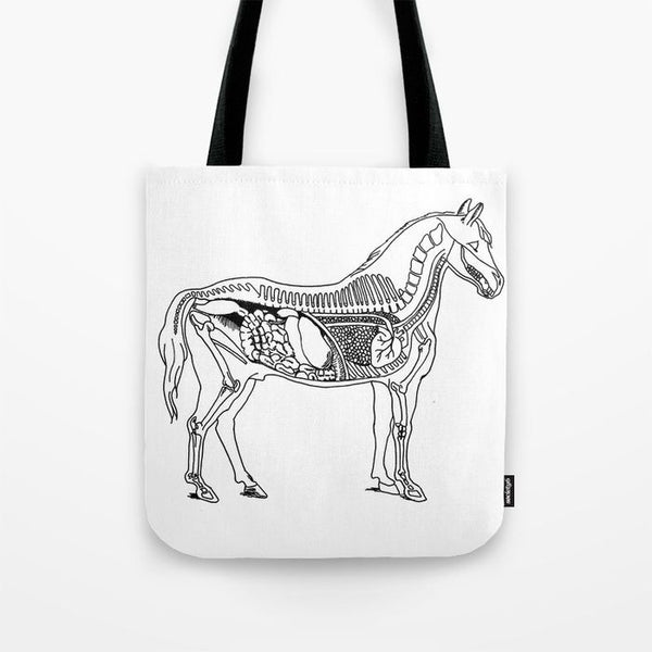 Horse Anatomy Tote - Tote Bag - AlphaVariable