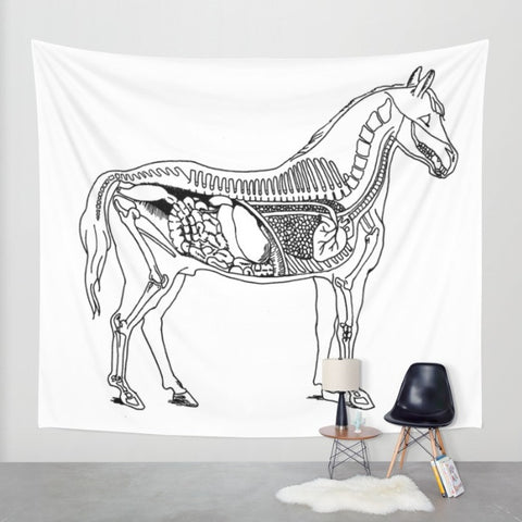 Horse Anatomy Tapestry -  - AlphaVariable