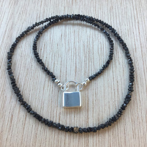 Black Diamond Choker Necklace - Necklace - AlphaVariable