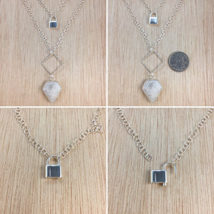 dps Sterling Silver Moonstone Necklace - Moonstone Necklace - AlphaVariable LifeStyle Brand