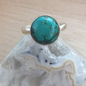 Simple Turquoise Ring - Turquoise Ring - AlphaVariable