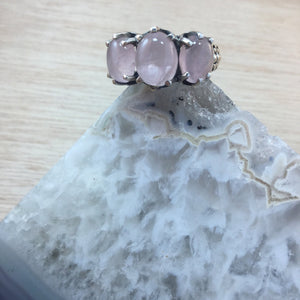 Rose Quartz Ring - Ring - AlphaVariable