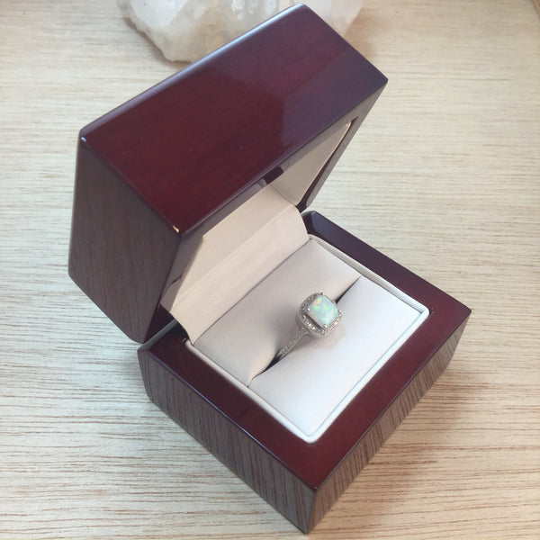 Cherry Wood Ring Gift Box - Gift Box - AlphaVariable