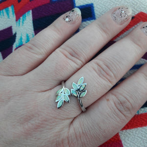 Opal Leaf Ring - Ring - AlphaVariable
